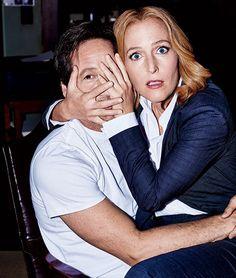Gillian Anderson and David Duchovny- The X Files David Duchovny, Gillian Anderson, The X Files, David And Gillian, Chris Carter, Believe, Sci Fi Tv, Fandom, Cinema