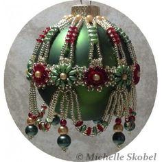 Victorian Splendor Ornament Cover Pattern - Bead Patterns by Michelle Skobel