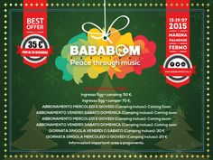 regala Bababoom festival a Natale http://www.bababoomfestival.it