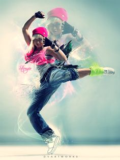 Hip-hop dance alone is such amazing art, but these photographers and graphic designers take it to another level!