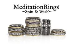 Eternal Jewels Collection™ of meditation rings made from the finest quality of hand crafted gold and sterling silver designer rings with spinning bands. Diamond Anniversary Bands, Brown Paper Packages, Meditation Rings, Best Diamond, Cool Toys, Ring Designs, Spinning, Wedding Bands, Great Gifts