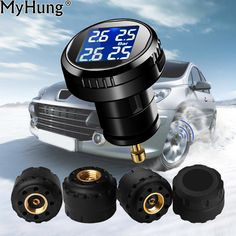 TPMS Car Tyre Pressure Monitor System 4 External Sensor Cigarette Lighter Tire Pressures Alarm Auto Universal Car-Styling * AliExpress Affiliate's buyable pin. Click the VISIT button to find out more on www.aliexpress.com
