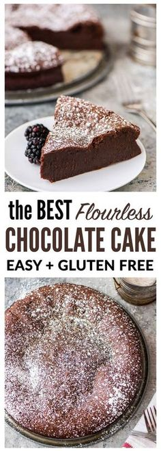 The BEST Flourless Chocolate Cake. Easy, impressive, and SO decadent. Perfect potluck and party dessert! {gluten free and grain free} Recipe at wellplated.com | @wellplated