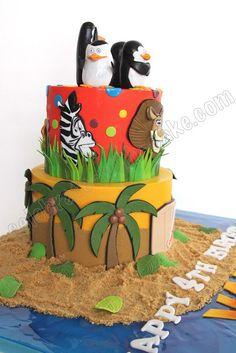 Celebrate with Cake!: Madagascar Themed Cake
