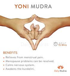 Detach from daily life Cultivate creative energy dailymudras mudras yonimudra menstrualpain menopause is part of Yoga fitness - Yoga Mudra, Hand Mudras, Les Chakras, Meditation Exercises, Qi Gong, Tantra, Yoga Fitness, Yoga Poses, Workout