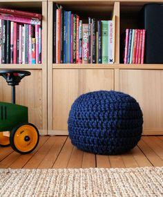 Puff Granny's Baby - crochet floor puff.