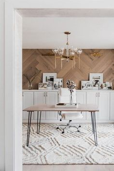 Dining Room Office, Home Office Space, Home Office Design, Home Office Decor, House Design, Dining Room Walls, Dining Room Cabinets, At Home Office Ideas, Dining Room Fireplace