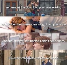 I'm not crying, it's just raining on my face. // #AMNESIA #TFIOS this is perfect