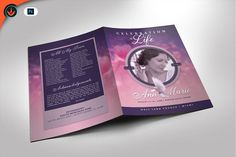Lavender and Pink Funeral Program by SeraphimChris