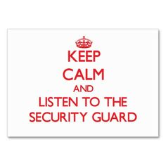 195 best security guard business cards images on pinterest in 2018 keep calm and listen to the security guard business card colourmoves