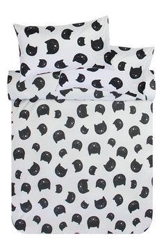 Microfibre Kitty Duvet Cover Set - Kids Bed & Bath - Shop Kids - K Kids Sheets, Kid Beds, Bed & Bath, Duvet Cover Sets, Bed Pillows, Kids Shop, Kitty, Image, Pillows