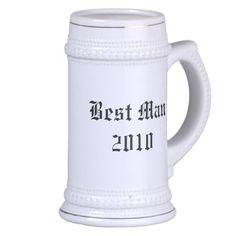 Personalized best man Wedding favor stein Mug
