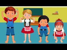 Cabeça, Ombro, Joelho e Pé | berçário português rimas compilação | portuguese kids songs collection - YouTube