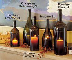 """Italian """"Big Bottle"""" Wine Hurricanes - Outdoor Lighting - Outdoor Living - Home & Garden - NapaStyle"""