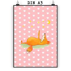 Poster DIN A3 Fuchs Sterne aus Papier 160 Gramm  weiß - Das Original von Mr. & Mrs. Panda.  Jedes wunderschöne Motiv auf unseren Postern aus dem Hause Mr. & Mrs. Panda wird mit viel Liebe von Mrs. Panda handgezeichnet und entworfen.  Unsere Poster werden mit sehr hochwertigen Tinten gedruckt und sind 40 Jahre UV-Lichtbeständig und auch für Kinderzimmer absolut unbedenklich. Dein Poster wird sicher verpackt per Post geliefert.    Über unser Motiv Fuchs Sterne  Die Fox-Edition ist eine…