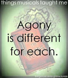 Agony Is Different For Each.