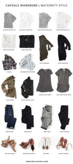 Capsule Wardrobe Maternity Style | Well Theory