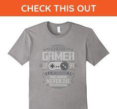 Mens Old School Gamer 23rd Birthday T-Shirt 3XL Slate - Birthday shirts (*Amazon Partner-Link)
