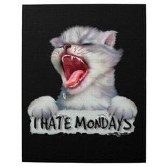 #CAT MONDAY CUTE CARTOON PUZZLE 11 X 14 - #monday #mondays
