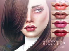 Rose Tea Lip Jelly N86 by Pralinesims at TSR via Sims 4 Updates