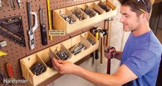 Adjustable Bins - Nail down the hardware organization in your shop. Build these…