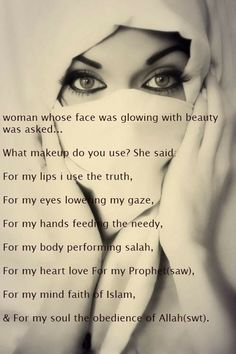 The real meaning Islam Marriage, Muslim Women, Makeup Yourself, Meant To Be, Religion, Lips, Sayings, Face, Quotes