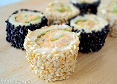 Sushi de pão de forma