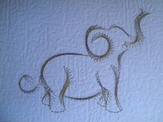 Elephant!!!! Card - PAPER CRAFTS, SCRAPBOOKING & ATCs (ARTIST TRADING CARDS)