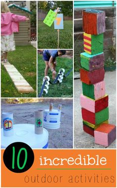 Love this list of outdoor activities for kids! Can't wait to try #3.  #summerfun #outdoor