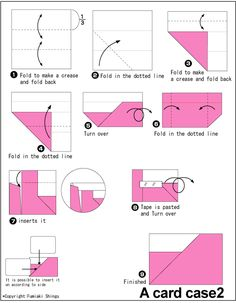 how to make origami container to hold cards