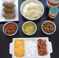 Mashed Potato Bar--I keep threatening to have a mashed potato party.  Remember the Heaping Bowl in Atlanta? :o)