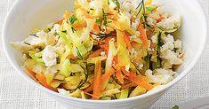 Dieser feine Rohkost-Salat schmeckt auch gut zu kurzgebratenem oder gegrilltem Fleisch.