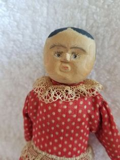 Vintage Carved Wood Kentucky Poppet Doll