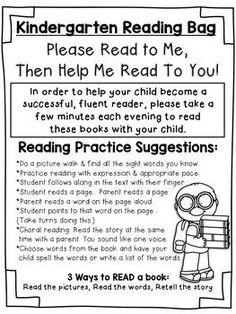 FREE Kindergarten Parent Note for Reading Bags FREE Kindergarten Parent Note for Reading Bags - Home School Messages Parents, Notes To Parents, Parent Notes, Kindergarten Language Arts, Kindergarten Parent Letters, Kindergarten Guided Reading, Beginning Of Kindergarten, Reading Practice, School