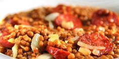 Linsesuppe med gode smaker - Denne linsesuppa er krydret med kumin og koriander.