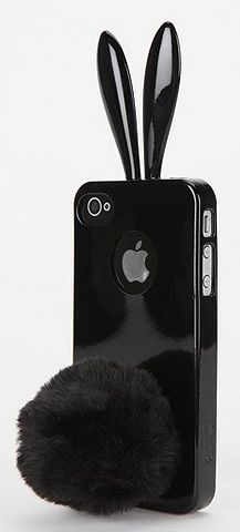 Cute black bunny case