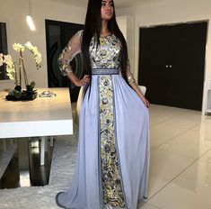 Wedding dresses indian girls anarkali 47 Ideas for 2019 Popular Wedding Dresses, Blue Wedding Dresses, Princess Wedding Dresses, Dress Wedding, Morrocan Dress, Moroccan Bride, Modest Dresses, Girls Dresses, Dresses With Sleeves