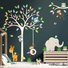 stickers muraux disney chateau Nom personnalis/é /él/éphant papillon pour filles gar/çons enfants chambre b/éb/é