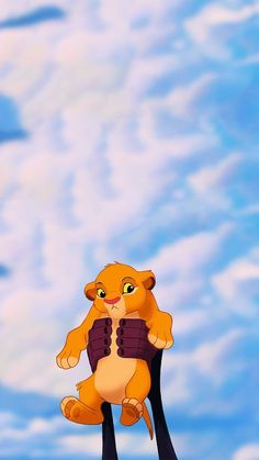 Presenting Baby Simba Lock Screen • Phone Wallpaper {The Lion King, Disney}