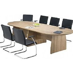 #OfficeFurniture #officedesks - Trilogy D-End #BoardroomTables are designed keeping in mind image of corporate brands. The desks are designed to perfection. Different kinds of leg options are available to match with conference room decor and design. For more specifications visit - http://www.office-desks.co.uk/trilogy-d-end-boardroom-tables.html