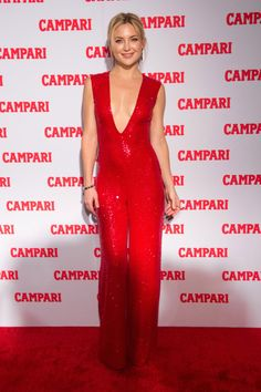 Kate Hudson is red hot at the Campari Calendar launch in New York on Wednesday.