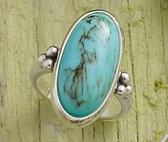 Spring Collection - Classic Oval Turquoise Ring #JamesAvery