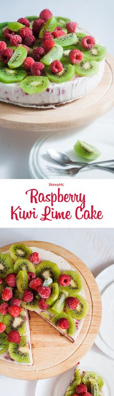 What says summer better than fresh fruity flavors? This Raspberry Kiwi Lime Cake features just that in every single bite.