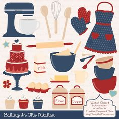 Items similar to Professional Baking Clipart & Vectors in Crayon Box - Kitchen Clipart, Baking Vectors, Baking Clip Art, Cooking Clipart, Apron Clipart on Etsy Cooking Clipart, Americana Kitchen, Kitchen Clipart, Cupcake Clipart, Cute Baking, Baking Items, Cute Aprons, Cute Cupcakes, Mothers Day Crafts