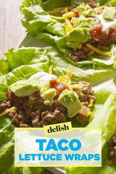 Taco lettuce wraps allow you to eat your taco, and have your bikini body, too. Get the recipe on Delish.com