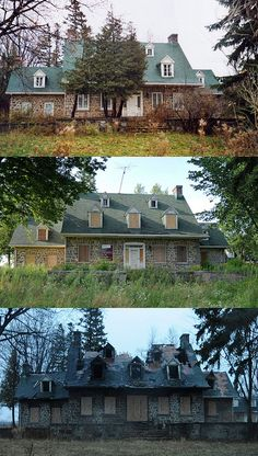 The lifespan and deterioration of an abandoned home. The Braerob Farm in Ste-Anne-de-Bellevue, Quebec. Pictures taken in 2006, 2009, & 2012.