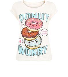 Teens Cream Donut Worry T-Shirt
