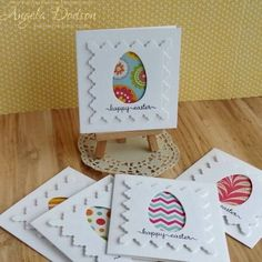 Tutorial to 'batch' make up these gorgeous Easter cards - quick and easy batch making! easter images Mini Easter Cards - Simple Batch Making Diy Easter Cards, Easter Crafts For Kids, Handmade Easter Cards, Easter Greeting Cards, Happy Easter Cards, Holiday Cards, Christmas Cards, Arte Van Gogh, Kids Cards