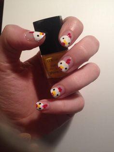 Best Of Japan Nail Art Tutorial – Nail Collections Cute Simple Nails, Pretty Nails, Hello Kitty Nail Polish, Cute Nail Art Designs, Animal Nail Designs, Japan Nail Art, Kawaii Nails, Funky Nails, Fire Nails