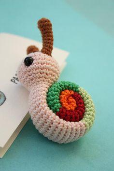 PATTERN - Amigurumi Snail Crochet Pdf Tutorial - Downloadable Crochet Tutorial